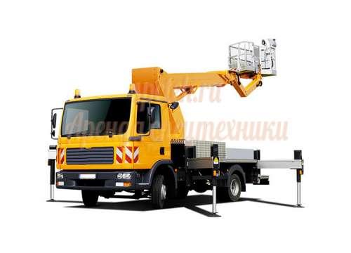 Автовышка с большой корзиной от 17 до 22 метров